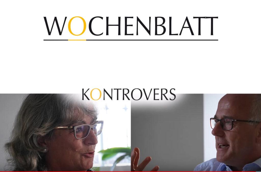 Wochenblatt Interview Druidin Karin Pietzek mit Dekan Zimmermann